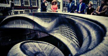 Long-awaited 3D-printed stainless steel bridge opens in Amsterdam
