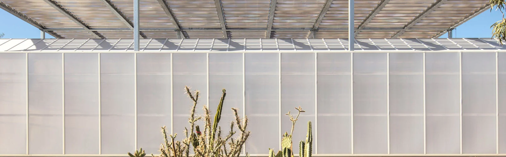 Desert Botanical Garden in Phoenix enclosed with polycarbonate walls