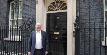 Kevin McLoughlin outside Downing Street-1